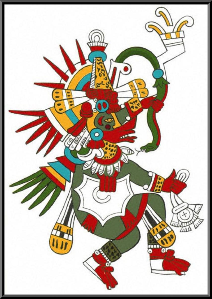 "The Mayan god Quetzalcoatl - ""The God of Wind"""