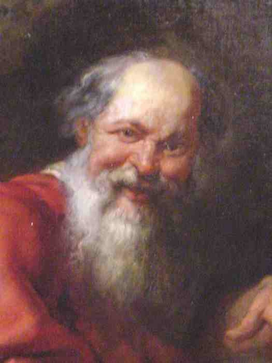"""Democritus (c. 460 – c. 370 BC) An ancient Greek pre-Socratic philosopher  remembered for his formulation of an atomic theory  of the universe. According to him, """"The universe is composed of two elements: the atoms and the void in which they exist."""