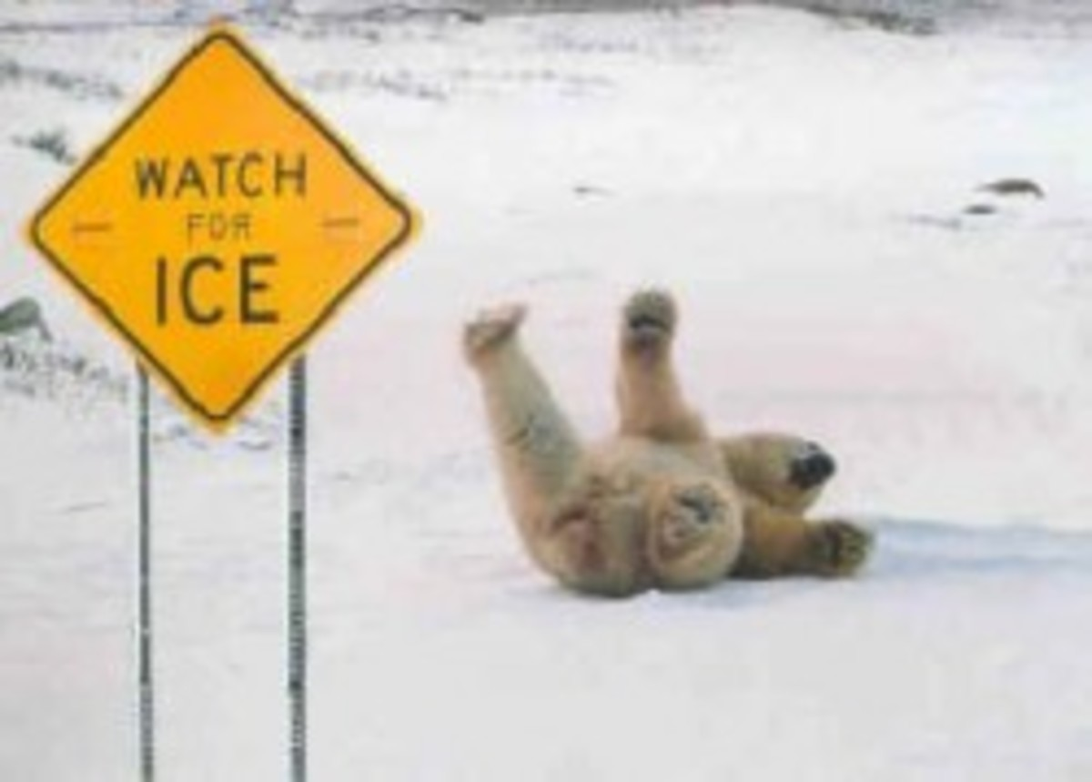 Woah!!  Watch out for slippery ice!!  It can definitely be dangerous without a little rock salt.