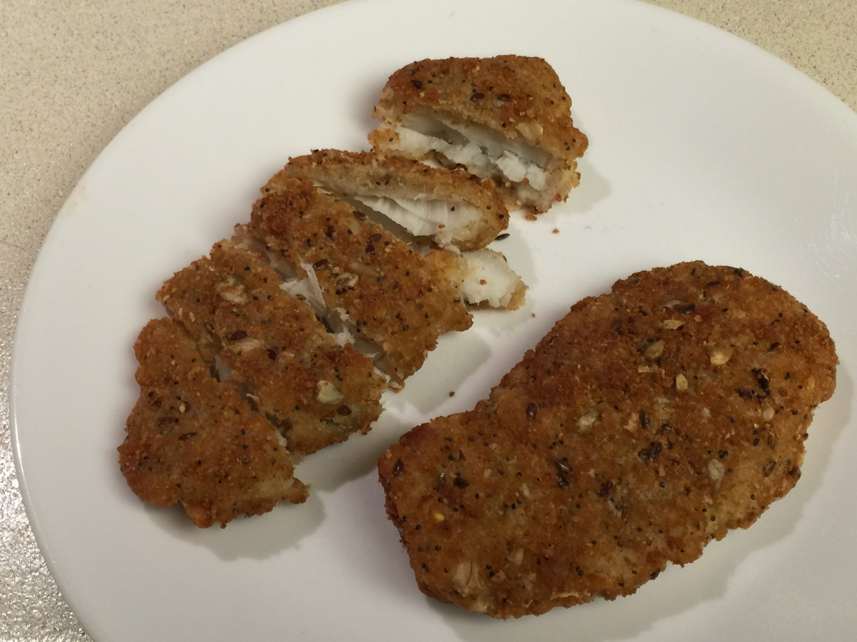 Ancient Grain Encrusted Cod baked in the oven