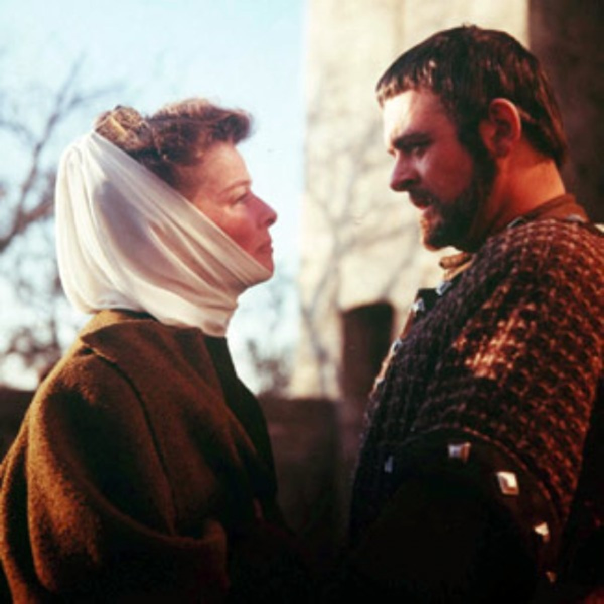 Eleanor of Aquitaine (Katharine Hepburn) and her favorite son, Richard the Lionheart (Anthony Hopkins)