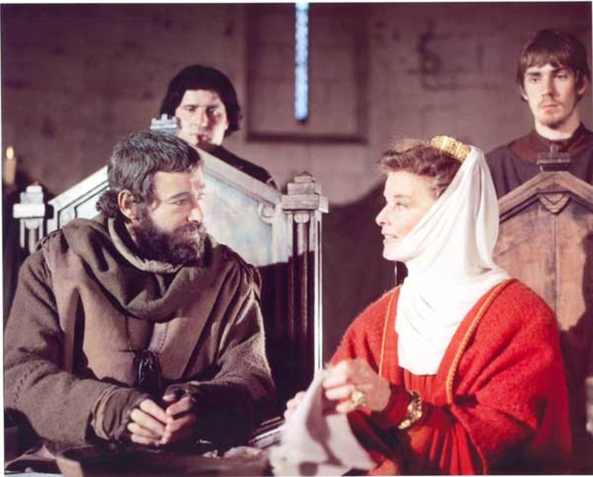 Peter O'Toole and Katherine Hepburn as Henry II and Eleanor of Aquitaine; 1968