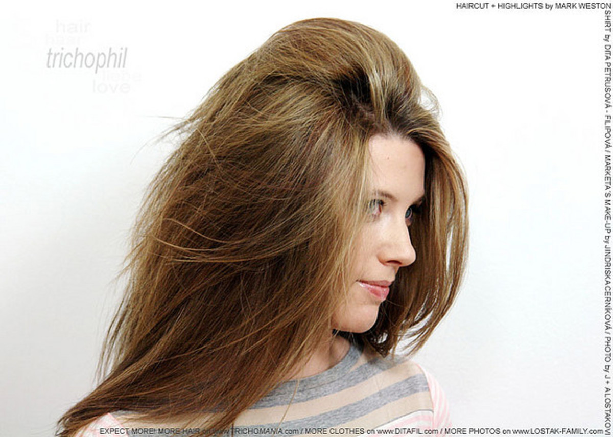 example of volumized hair
