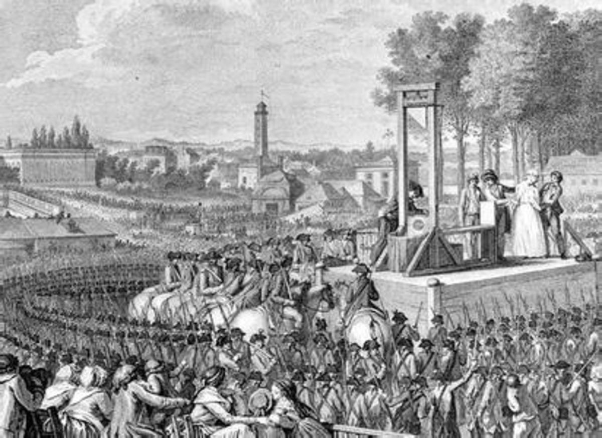 The Execution Scene of Marie Antoinette and Louis XVI