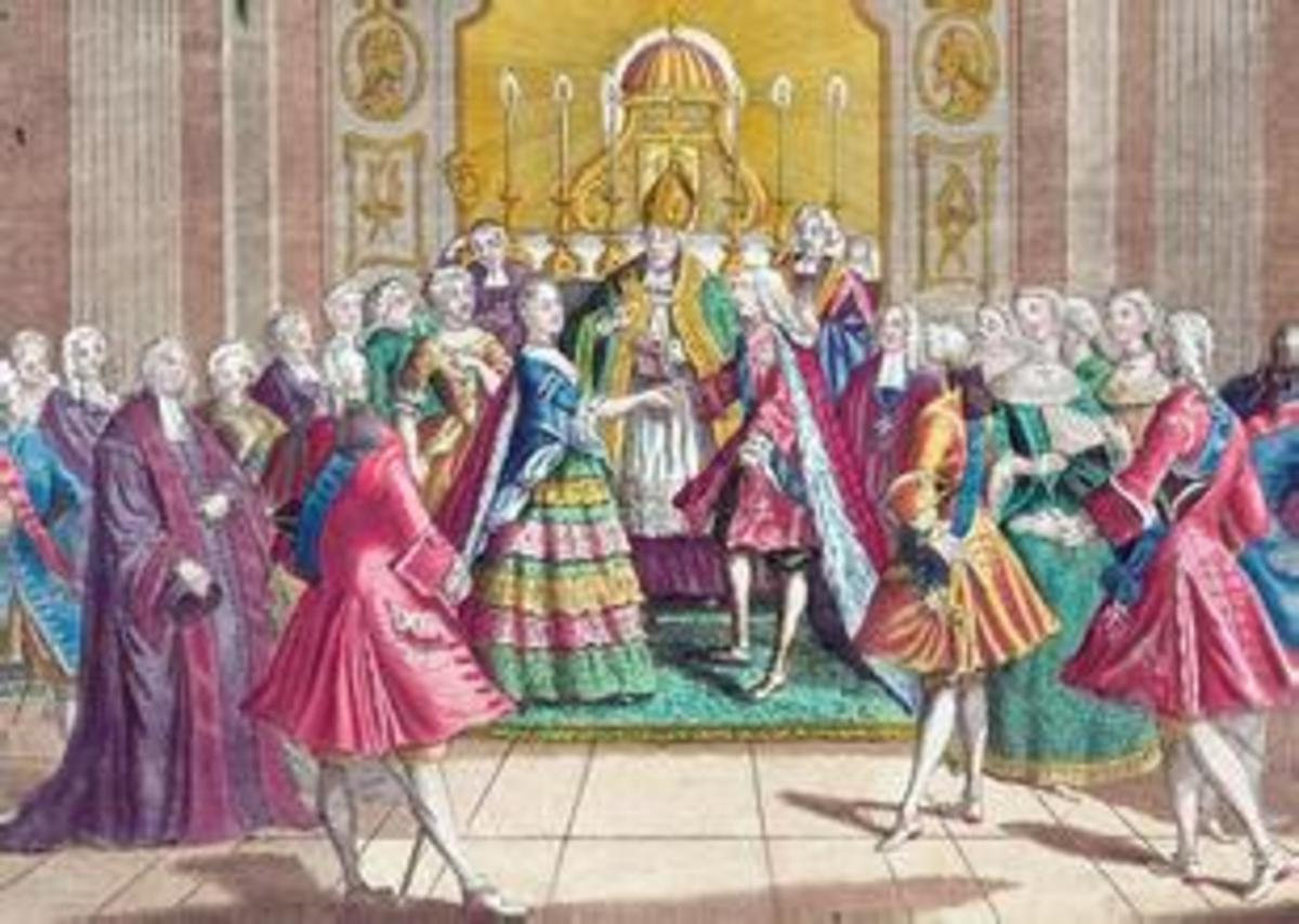 The Weeding Scene of Marie Antoinette and Louis XVI