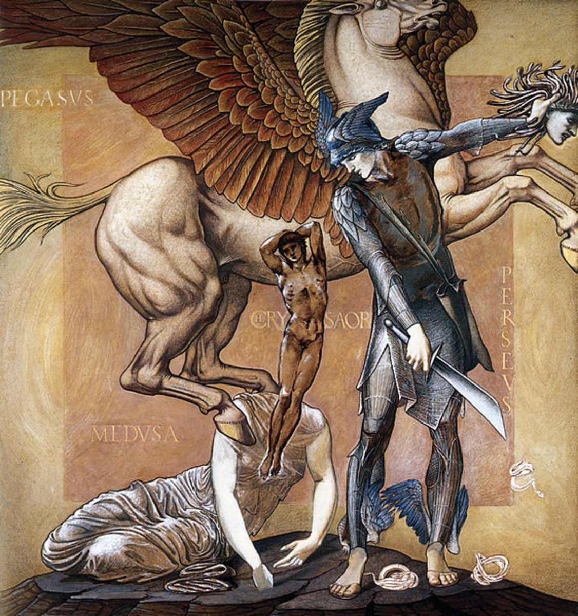 Winged Pegasus from Greek Mythology