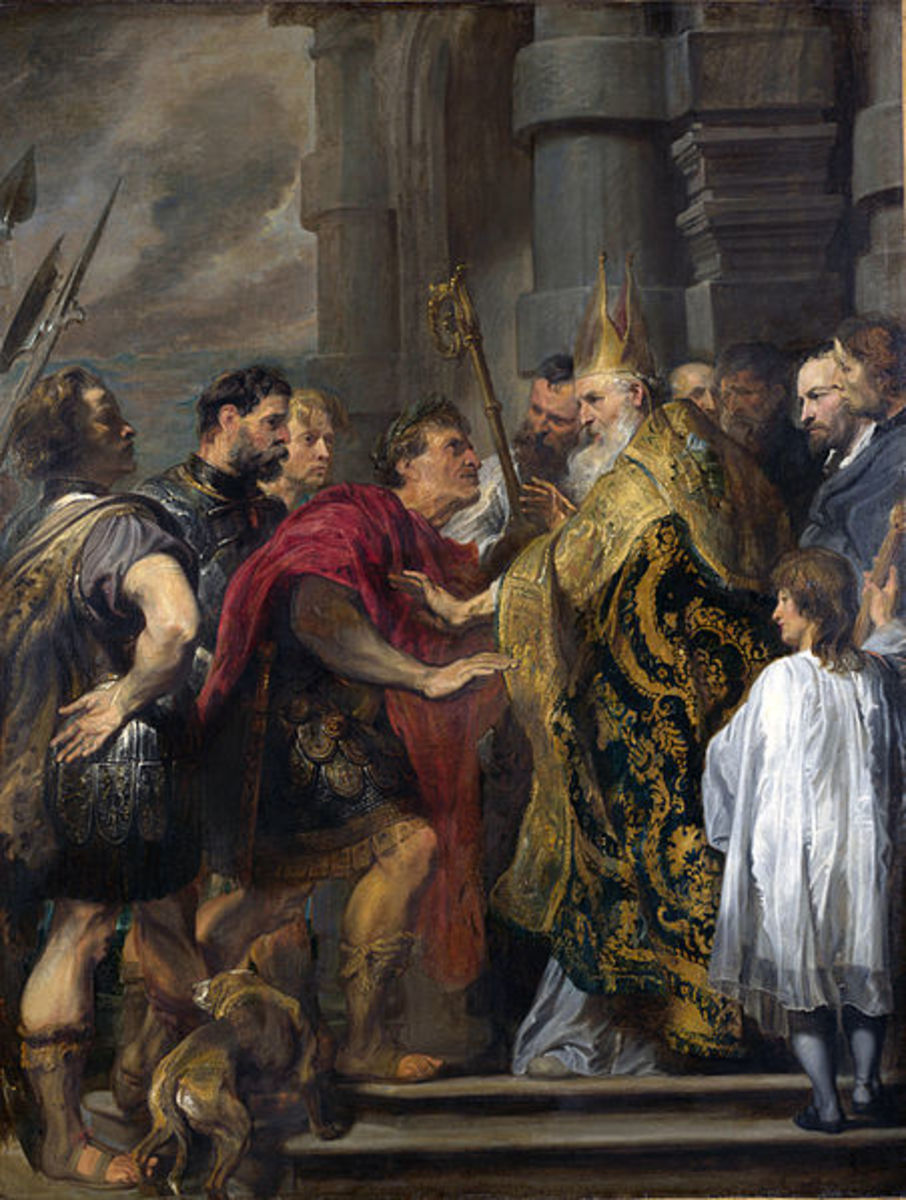 Between them, Emperor Theodosius and Bishop Ambrose I brutally suppressed all non-Trinitarian forms of Christianity as well any other religion practiced within the Empire's borders.