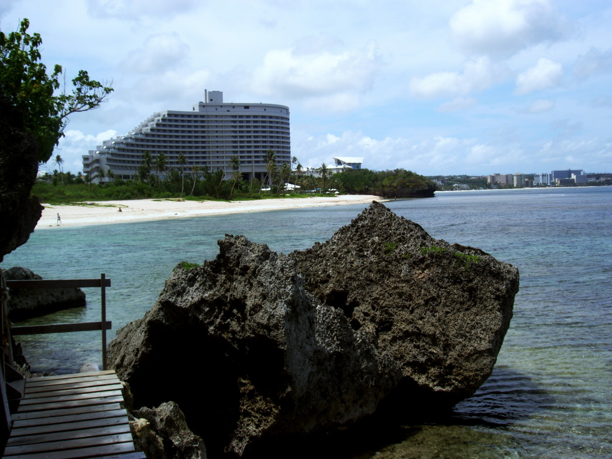 View of Tumon Bay from another beach