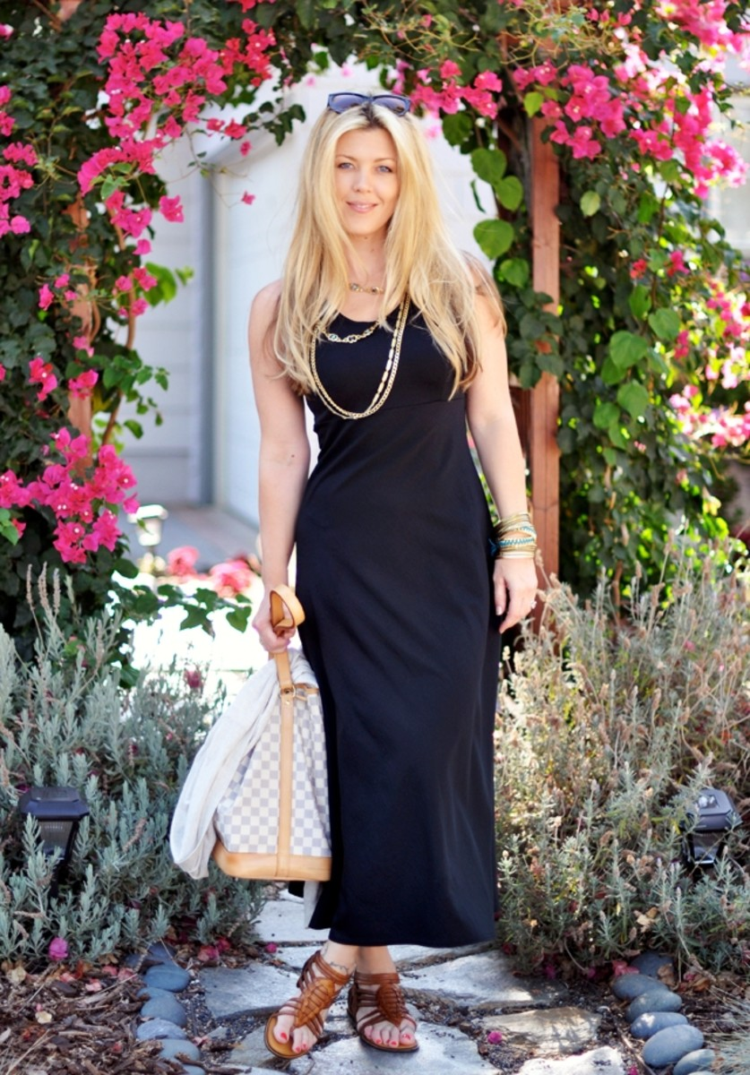 Best black maxi dress