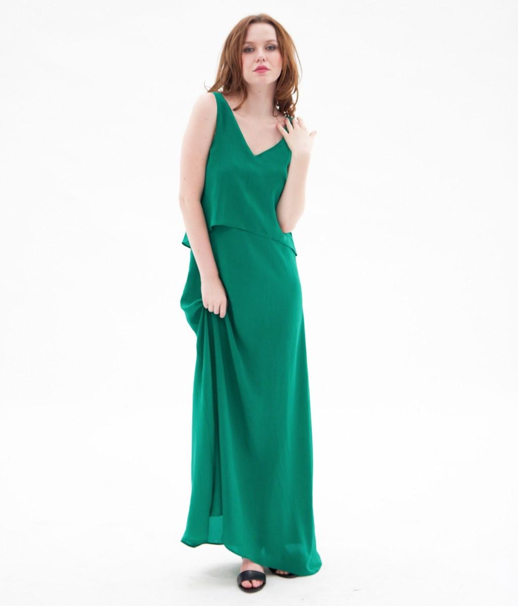 Maxi dress with flats