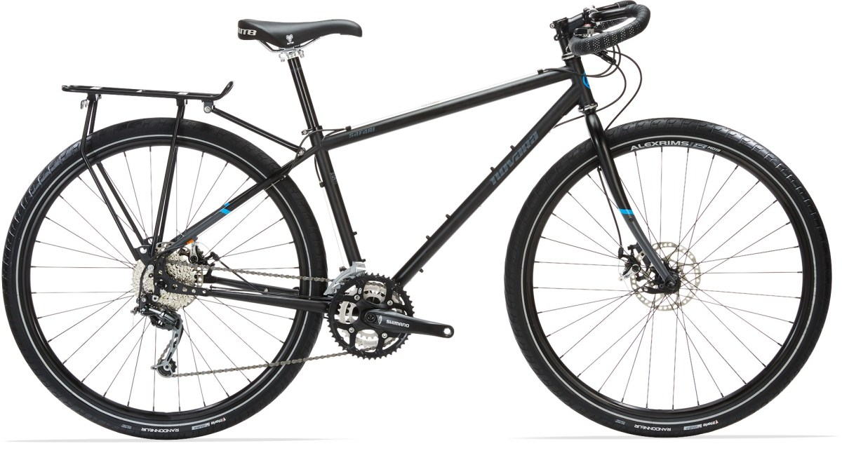 This is the newest iteration of the Novar Safari touring bicycles. It comes (unfortunetly in our opinion) with 700cc presta wheels. The 2014 Safari that we road for 3000 miles+ were pretty similar and were a great ride.