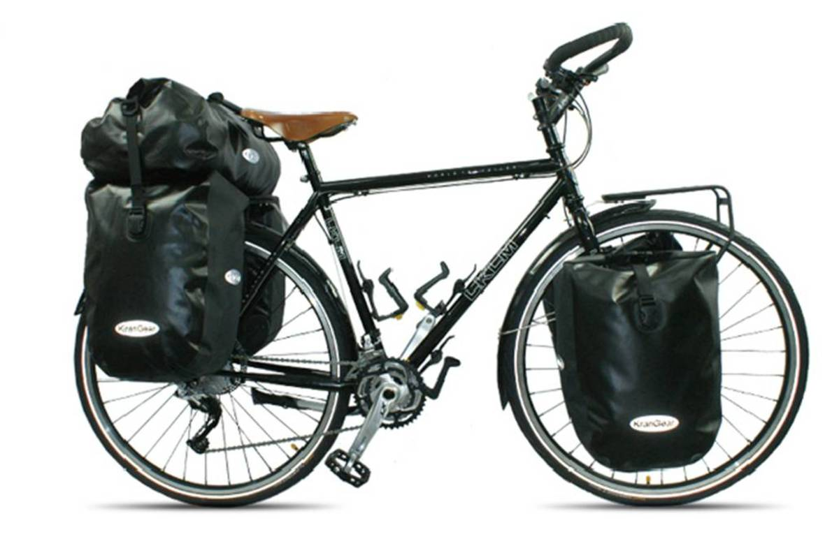 An expedition touring bike by EKLM fully loaded