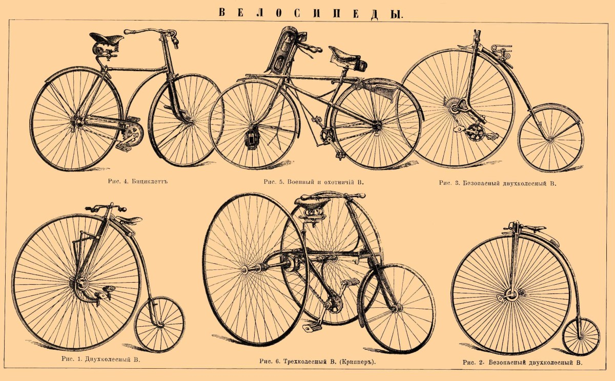 Examples of the types of bicycles that would have been similar to those used on one of the first reported cycling tours from Liverpool to London.