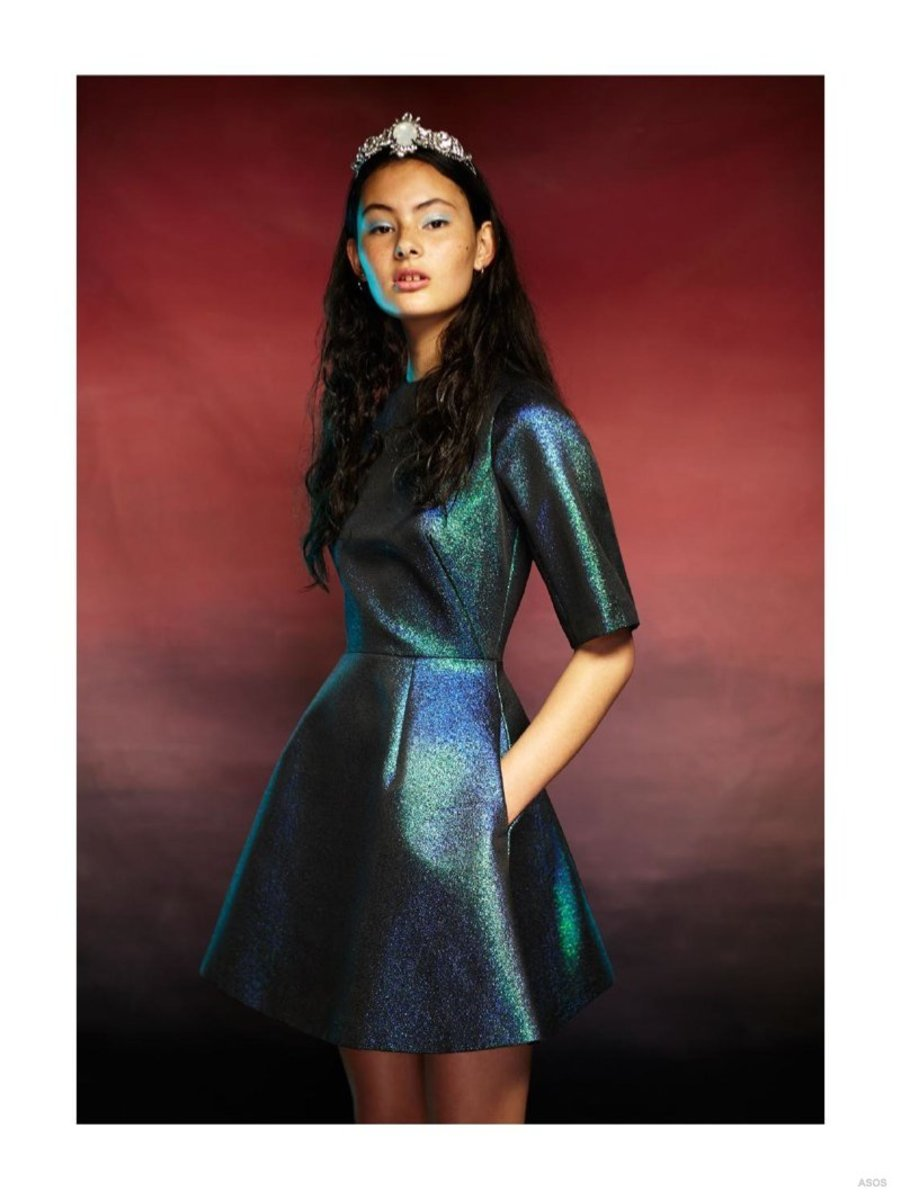 Iridescent Green Dress