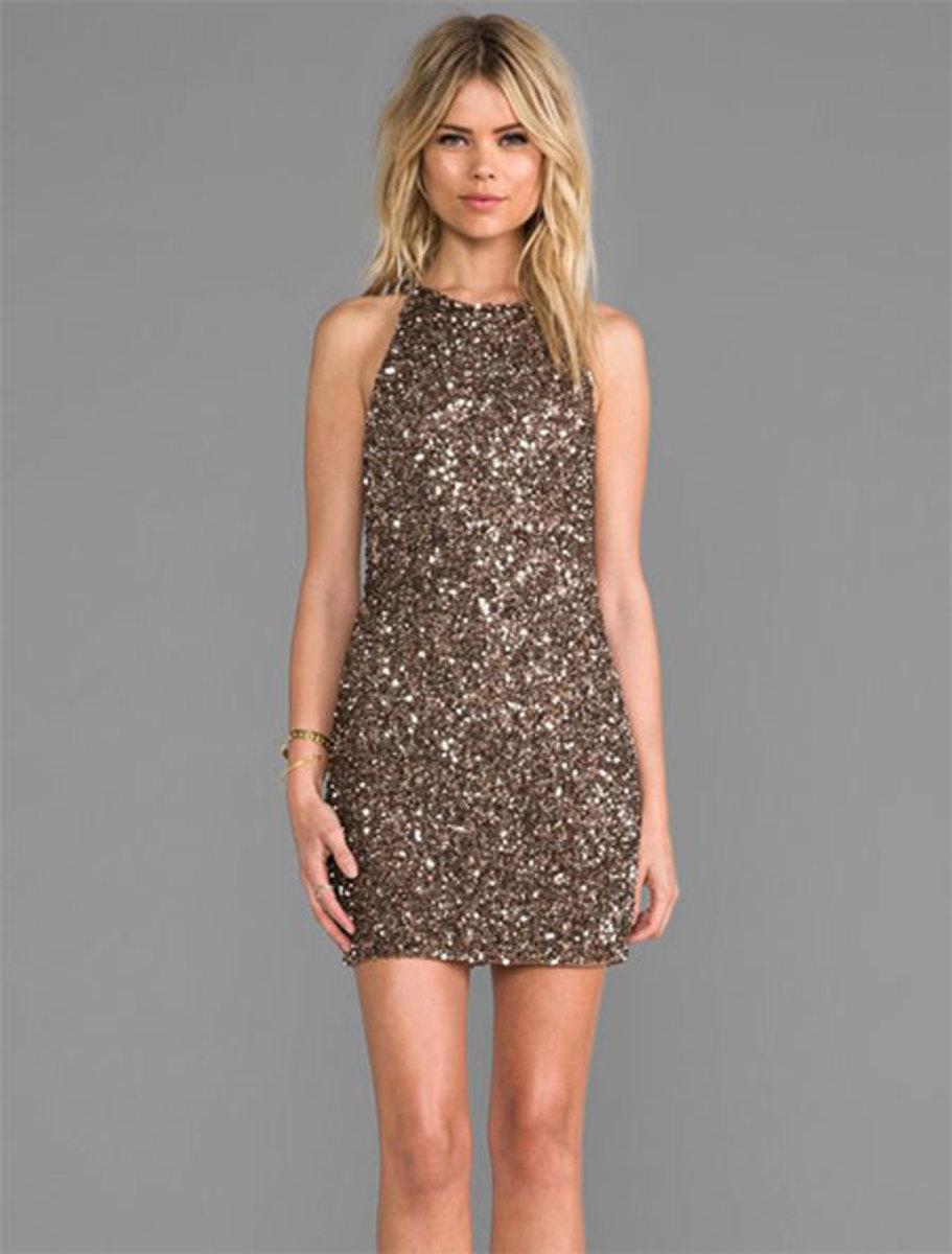 Glittery Sleeveless Dress