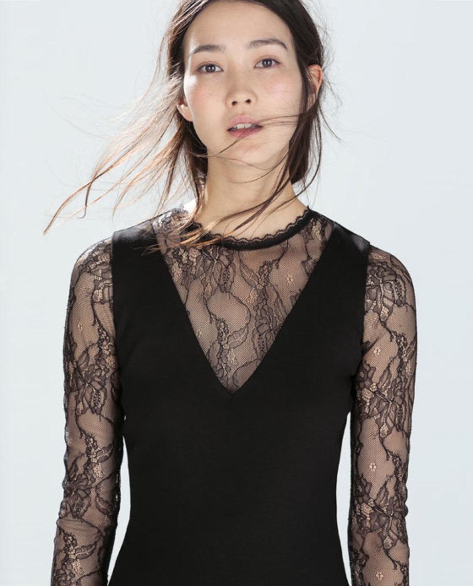 Mixed Media Black Lacy Dress
