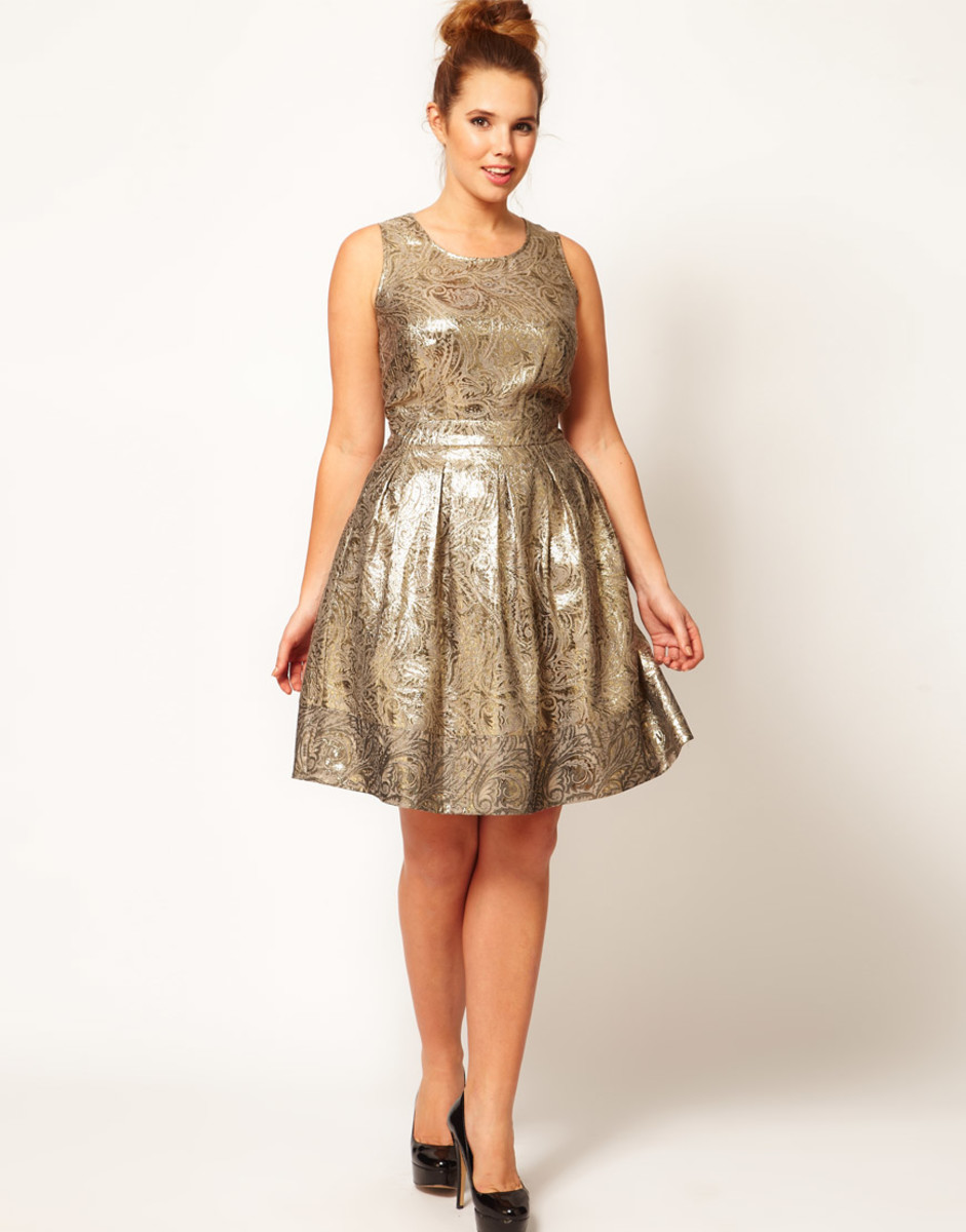 Shiny Gold Short Dress