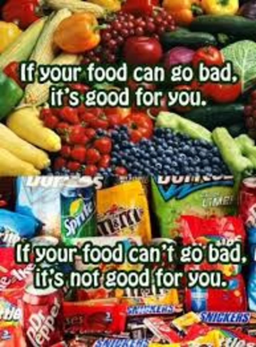 Natural foods contain more essential nutrients because they are whole foods. Devitalized foods have been refined to the extent that many nutrients have been removed.
