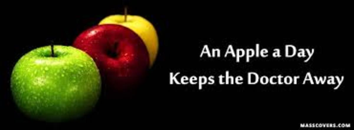 Eating nutritious food like an apple, for example, will help to keep you healthy.