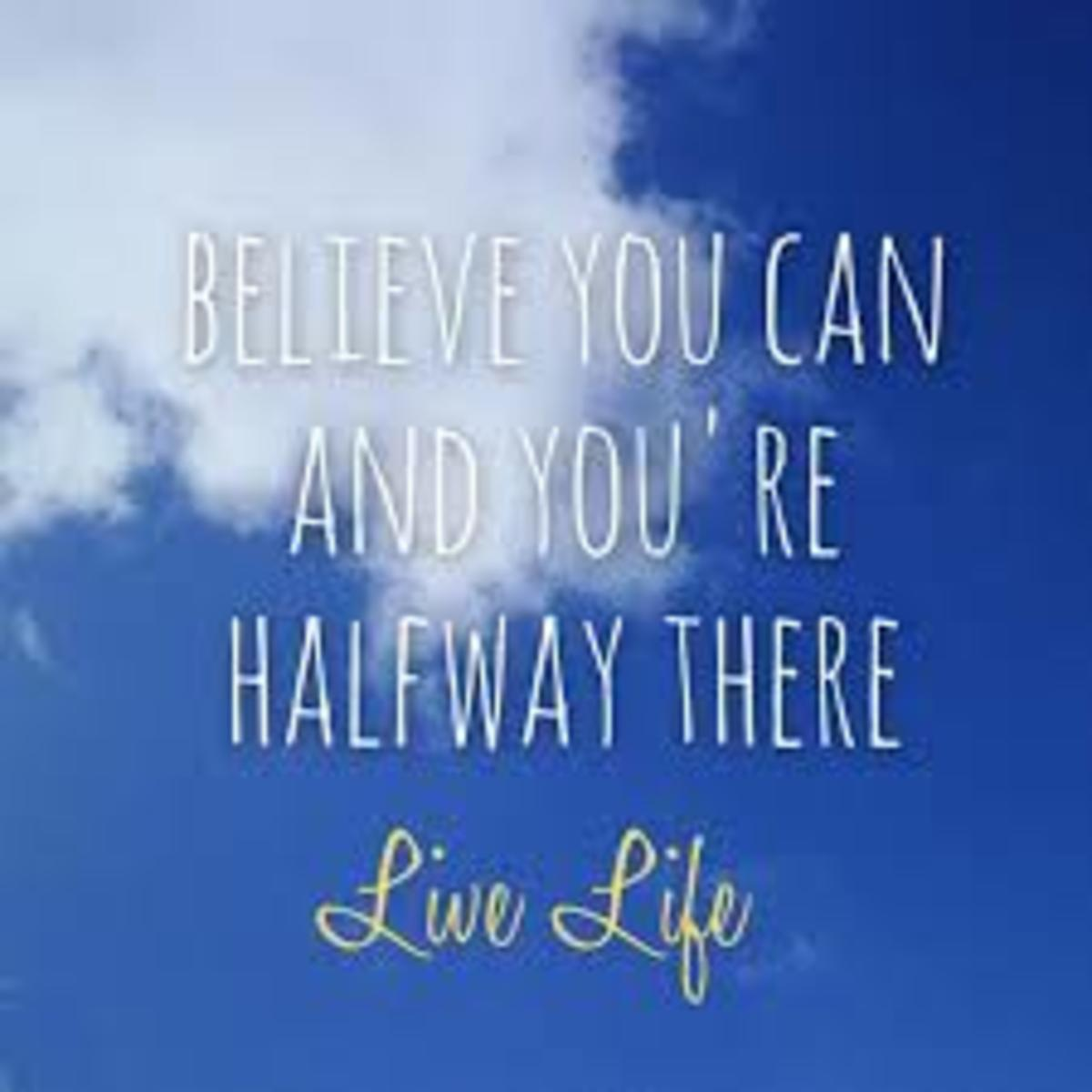 The first step towards achieving any goal is to believe you can and expect it to happen. Visualization using the power of your imagination prompts the subconscious mind to create positive thoughts to seek ways to reach your goals.