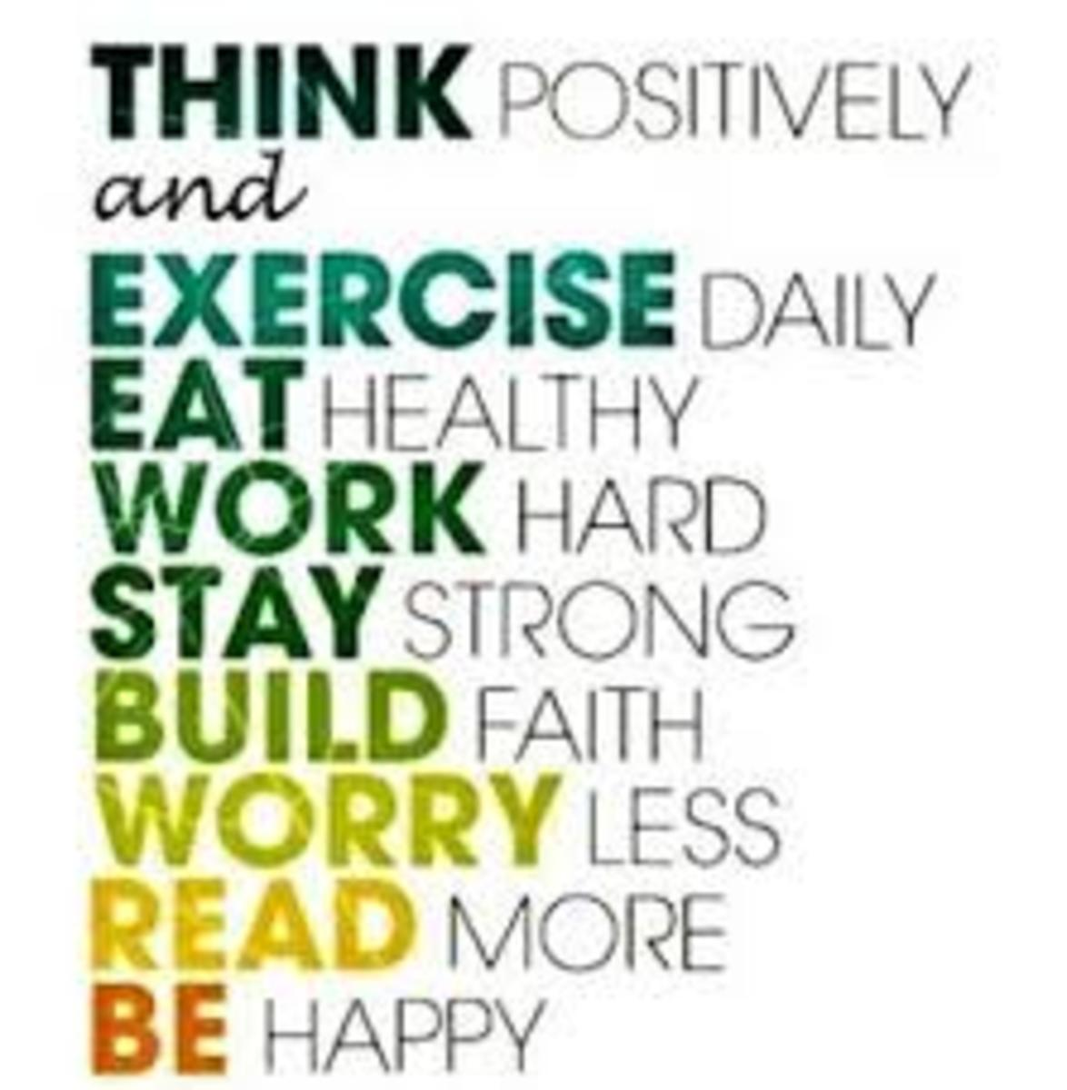 It is important to have the right attitude toward your health as it affects the quality of your life.
