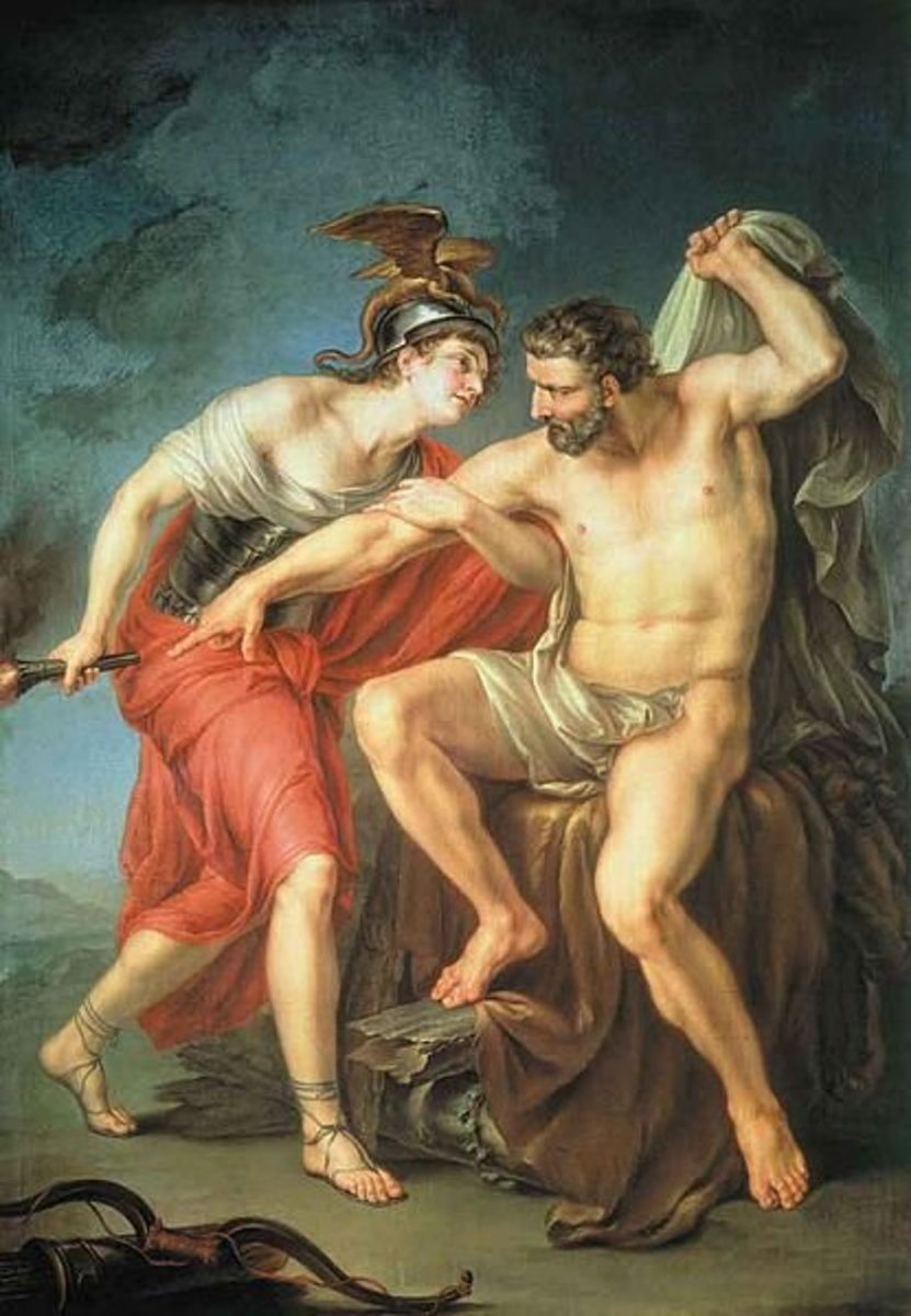 The hero Philoctetes in Greek mythology