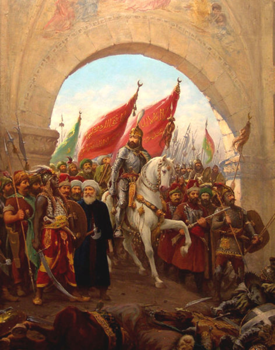 The fall of Constantinople in 1453 to Mehmet the Conqueror and the Ottoman Turks marked the final end of the Roman Empire after nearly 1500 years of existance.
