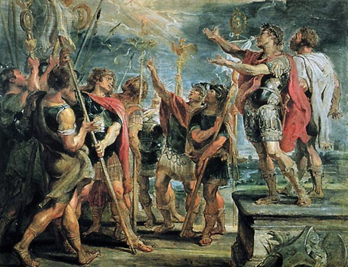 The conversion of Emperor Constantine the Great, which helped to transform the profile of the Roman Empire forever..
