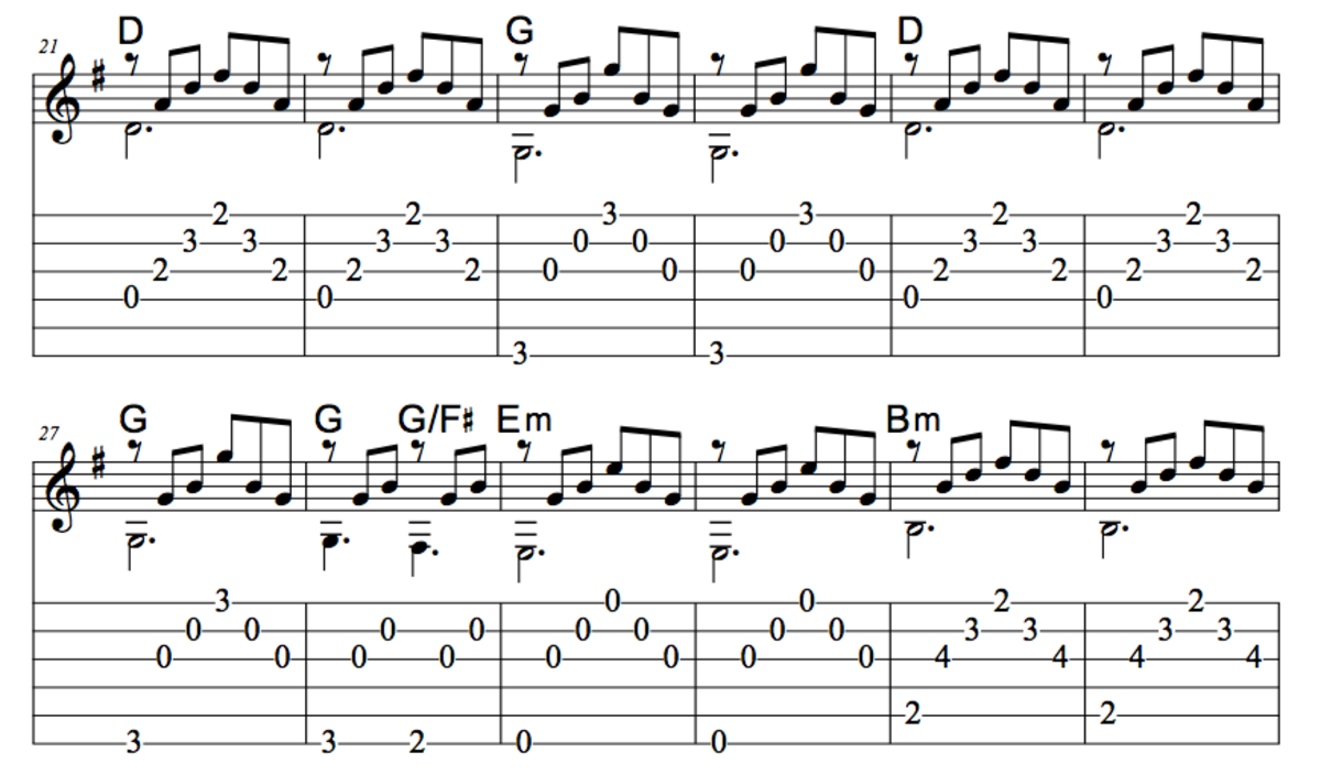Guitar guitar melody tabs : Easy Guitar Christmas Songs • Oh Holy Night • Arpeggios, Chords ...