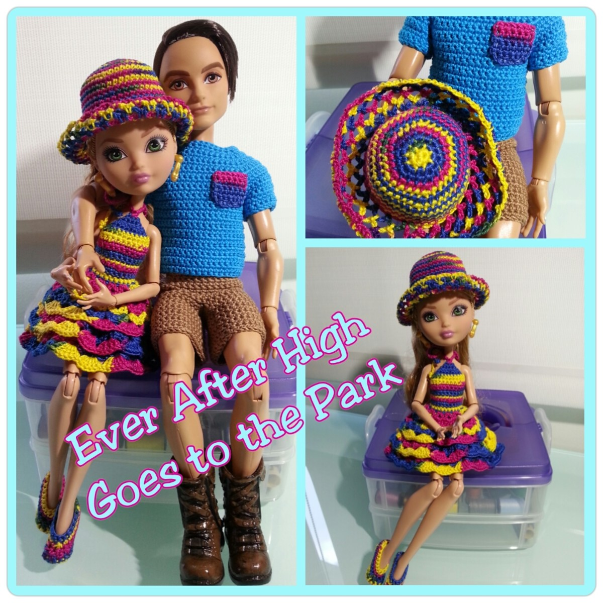 Ever After High Dolls Going to the Park (Free Crochet Pattern)