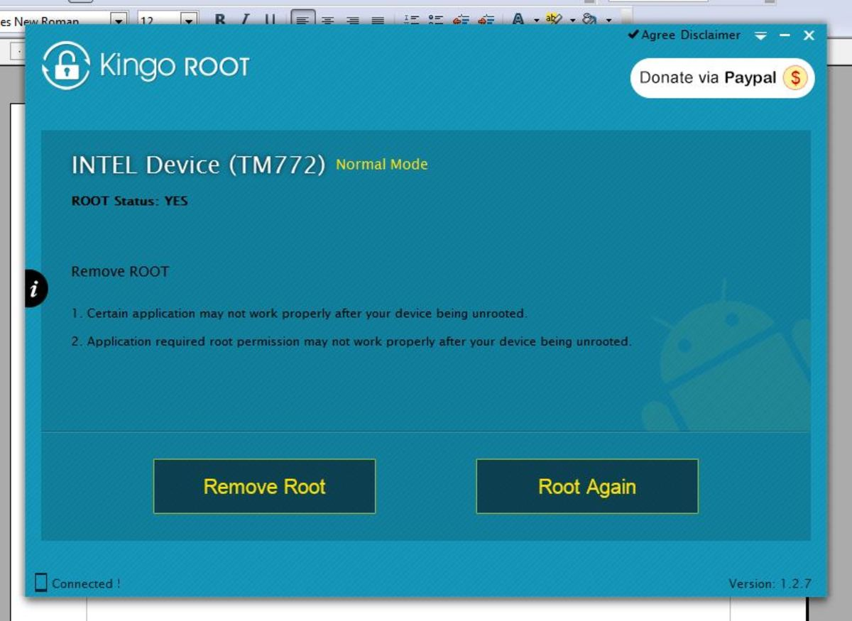"KingoROOT for whatever reason indicated that my tablet was already rooted.  If it presents the same way, click the ""Root Again"" option."