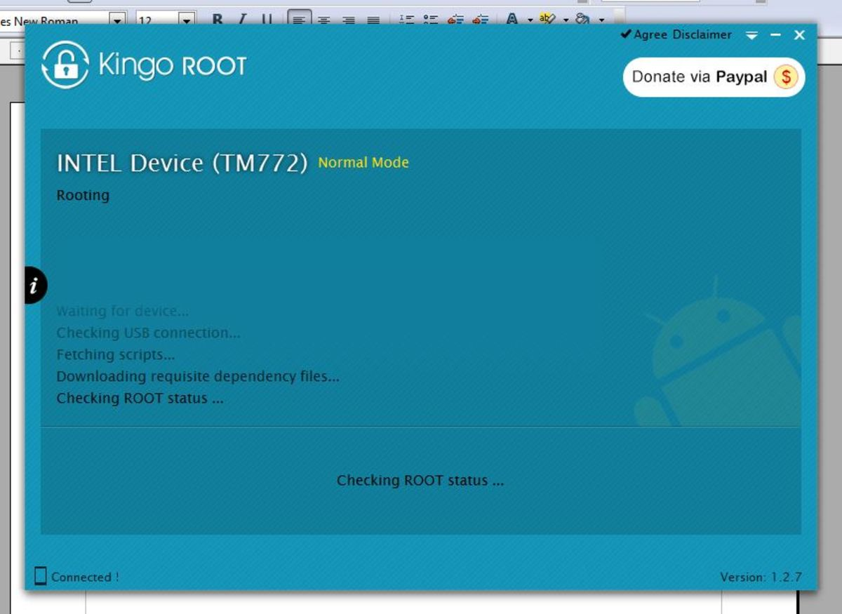 KingoROOT doing its thing, it might fail, but reboot your Apex tablet and then start over.