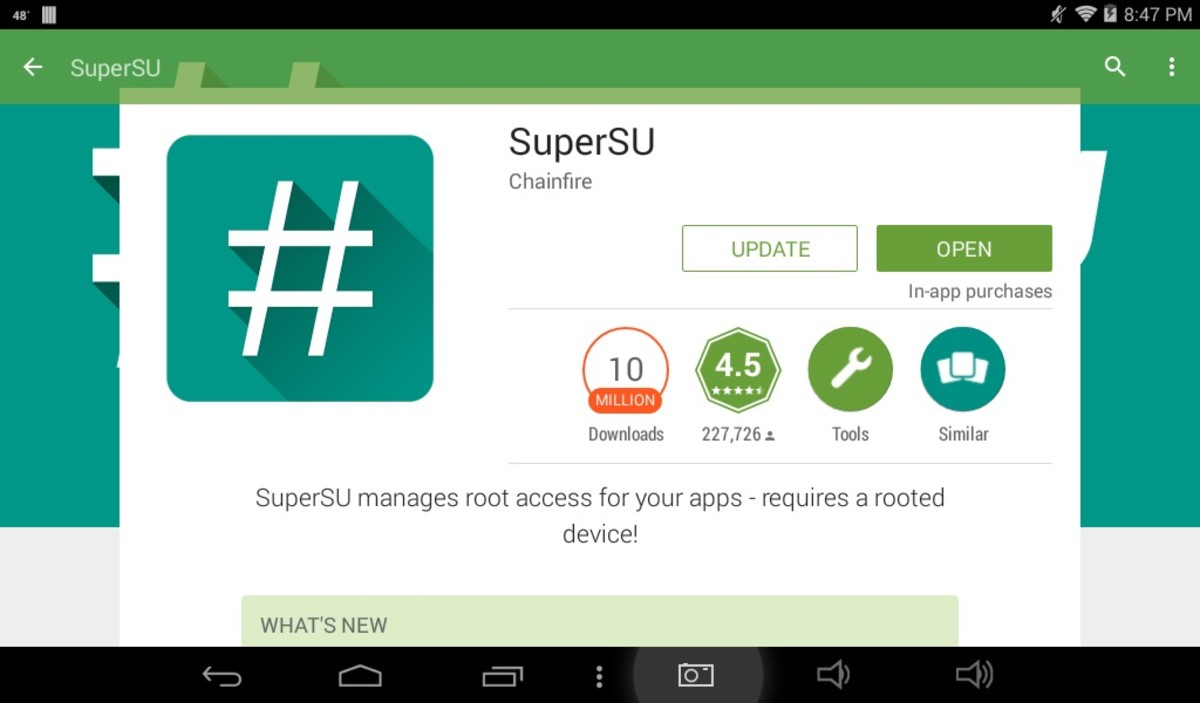 After successful rooting, go to the Play Store and search for and download SuperSU, you'll be using that app to manage root permissions with any apps you install that require root access to be granted.