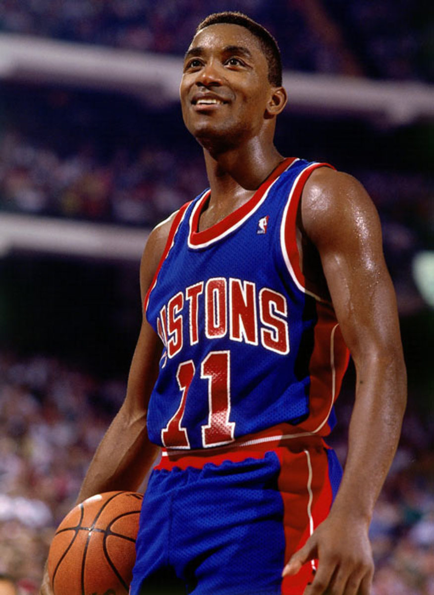 Isiah Thomas was the leader of the Bad Boy Pistons back to back championships.