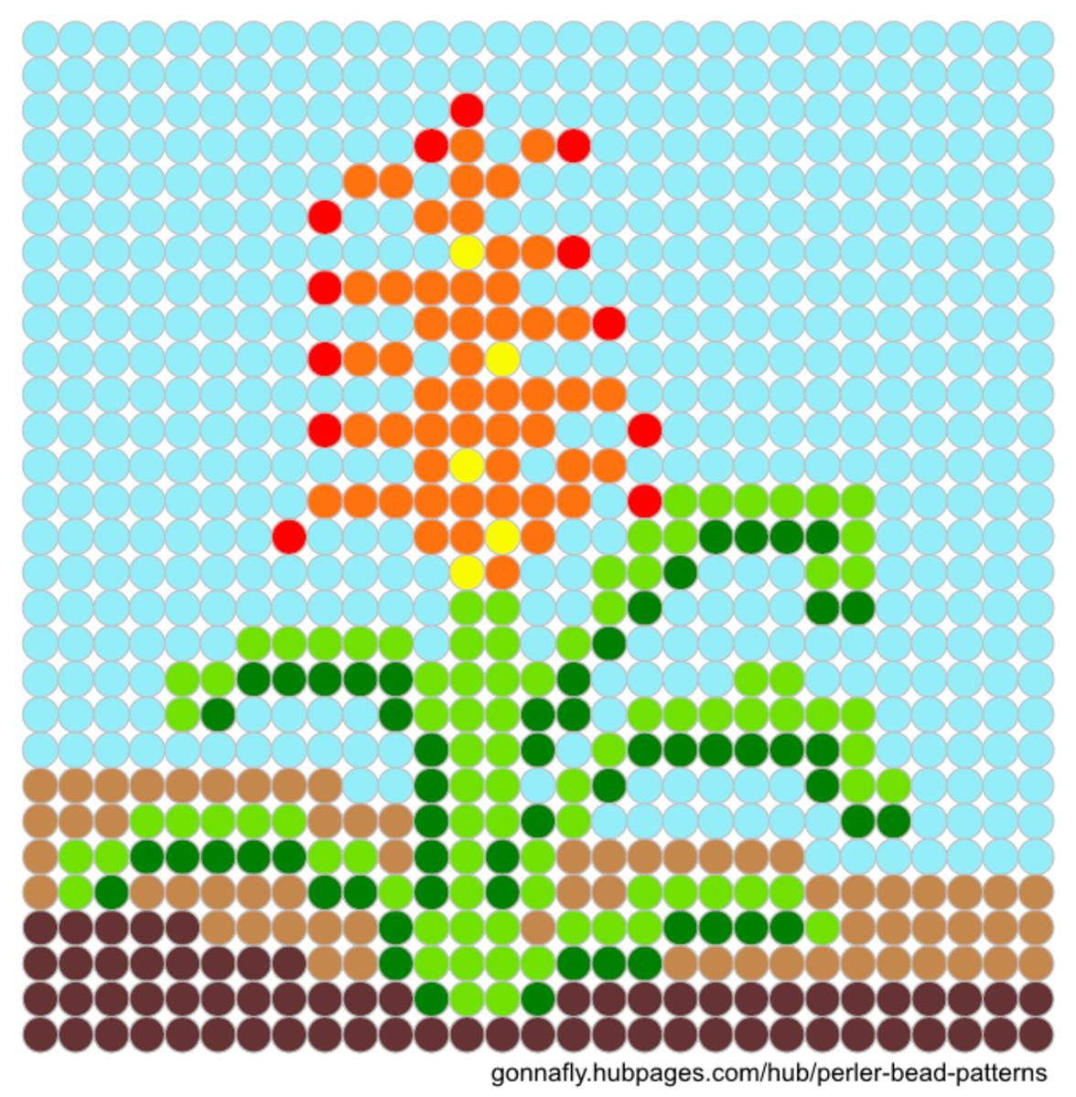 bromeliad perler bead pattern