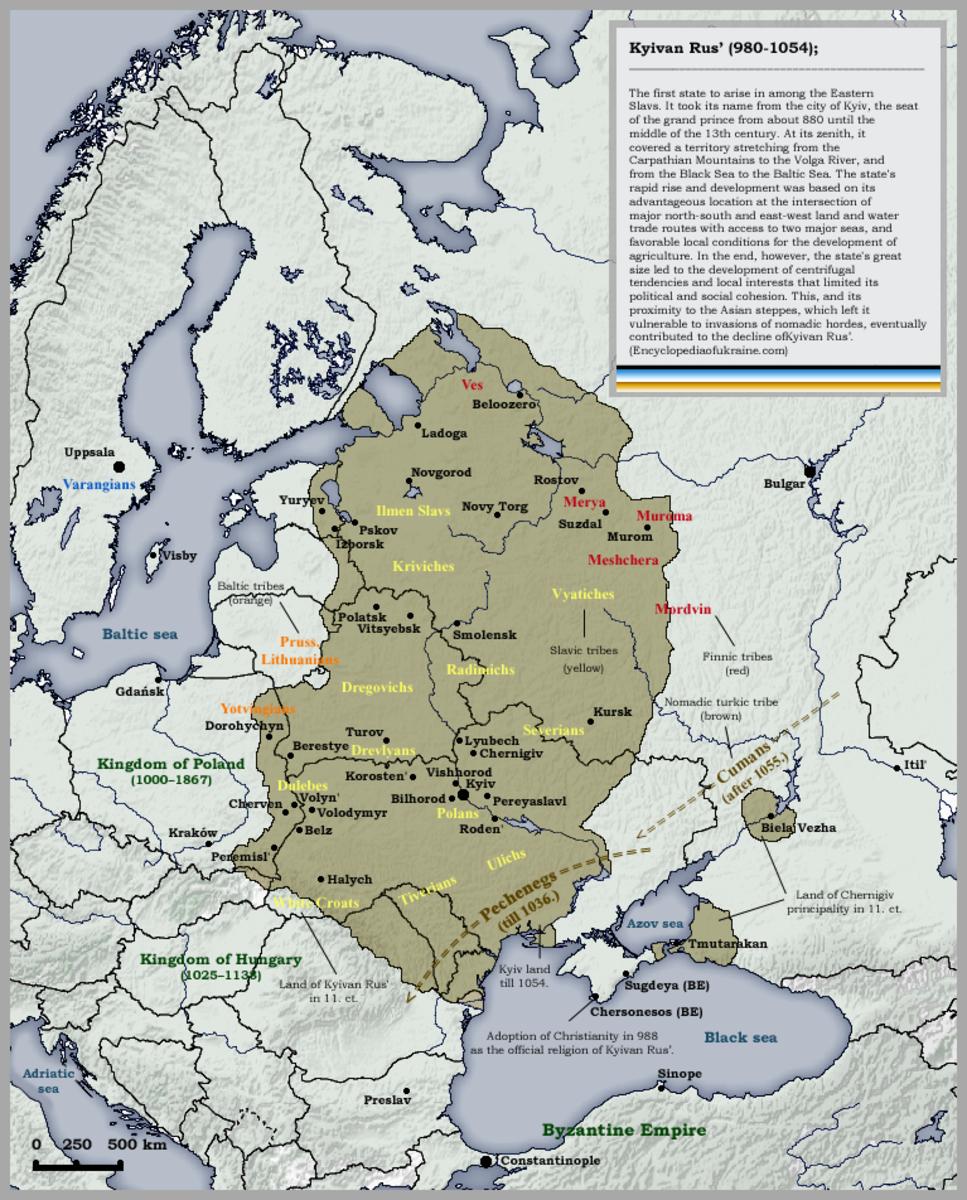The Kievan (Kyiv) Rus, 980-1054