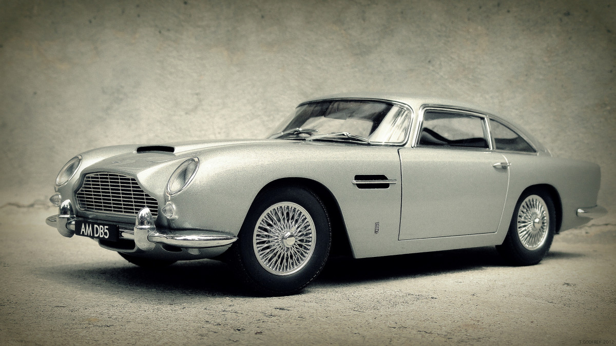 Aston Martin DB5, as featured in James Bond films.