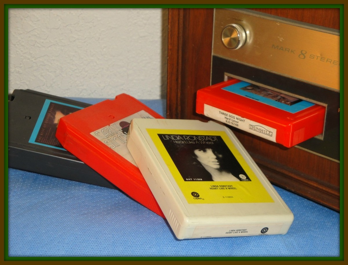 The 8 track tape is a technology of recording sound through magnetic tape that is looped and never ending.