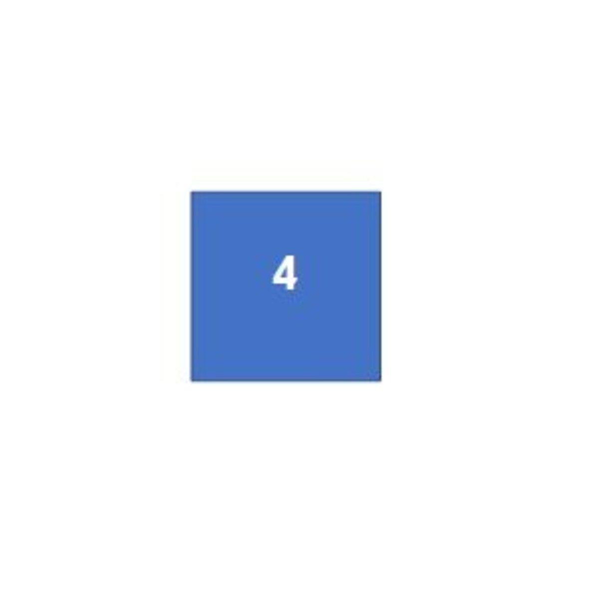 A square, which is a quadrilateral, has 4 sides.