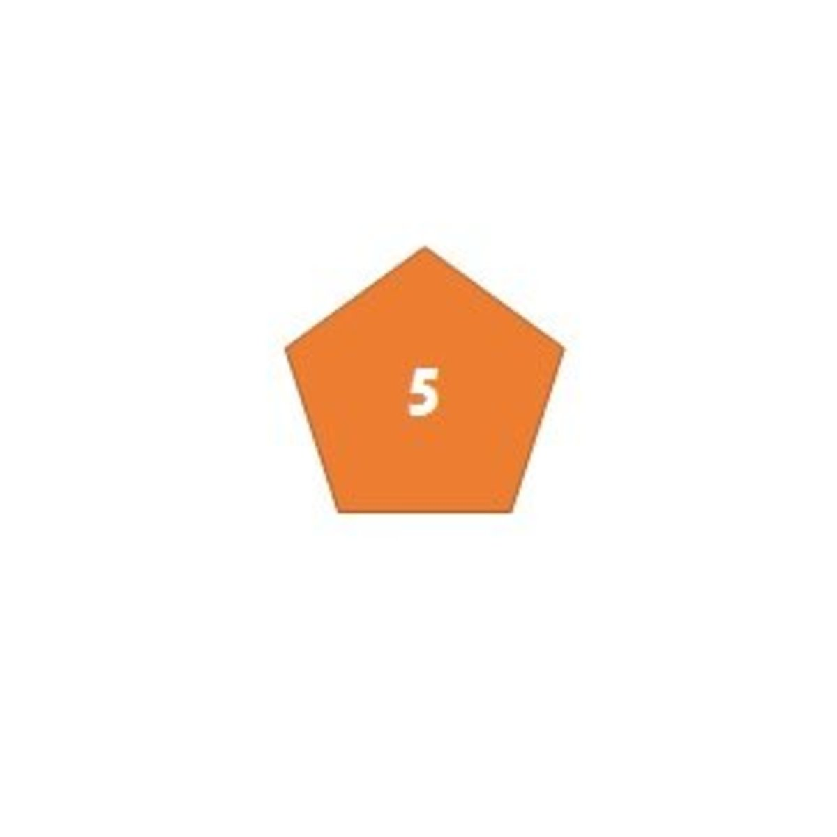 A pentagon has 5 sides.