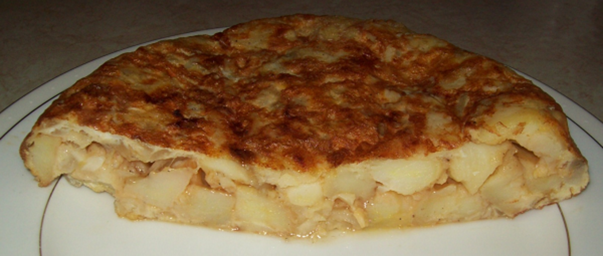 I like the egg cooked enough, but not so much that the Spanish Omelette becomes dry