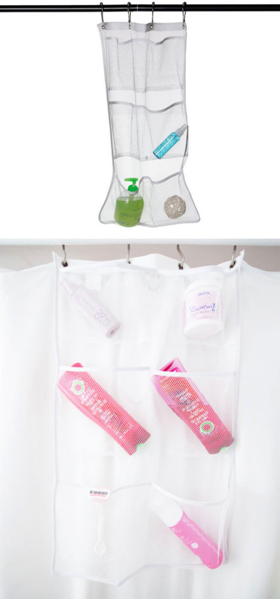 Shower Pocket Organizer | Easy Organization Ideas for the Home | Bathroom Organization Hacks