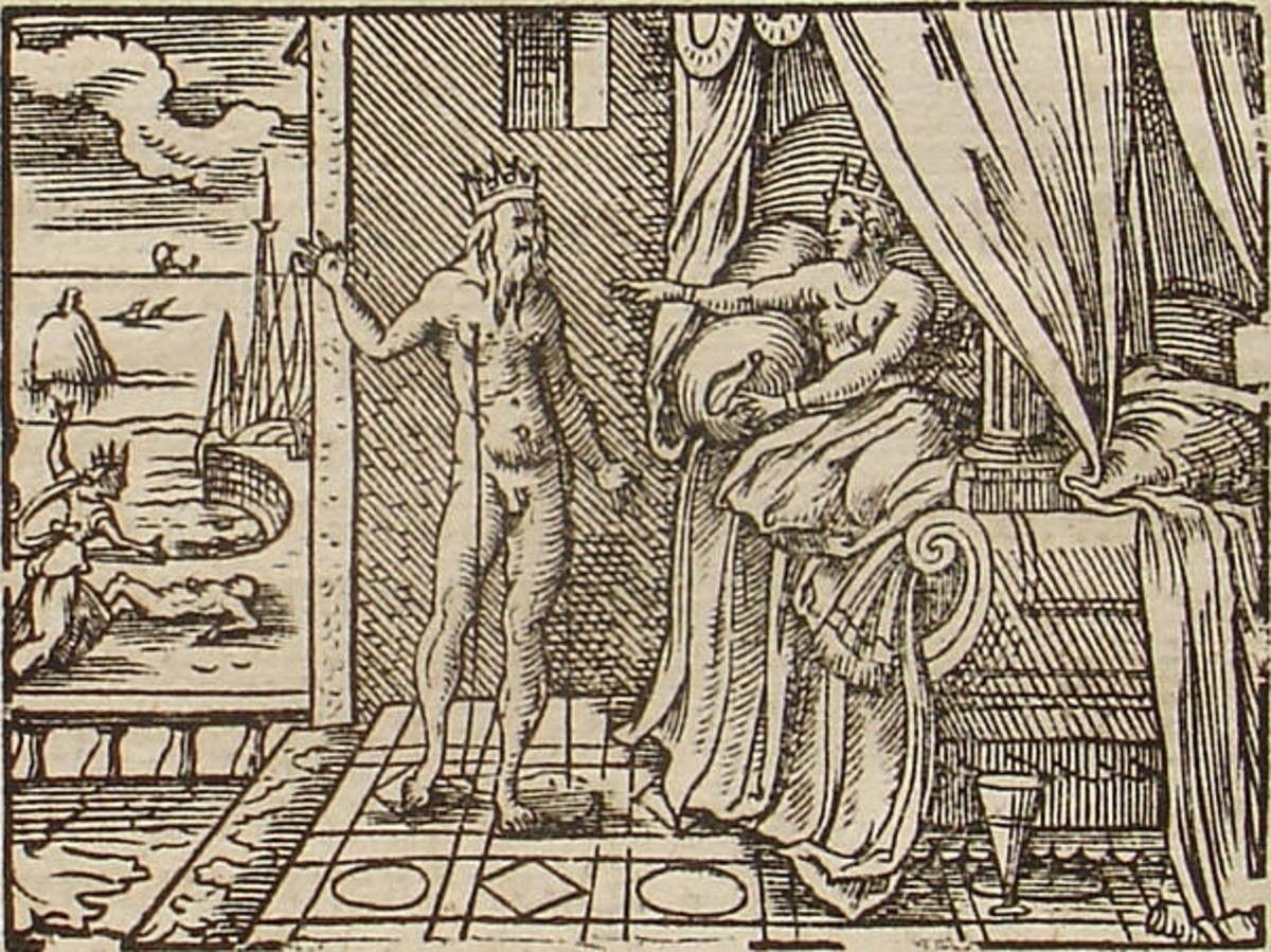 Engraving by Virgil Solis for Ovid's Metamorphoses Book XI PD-art-100