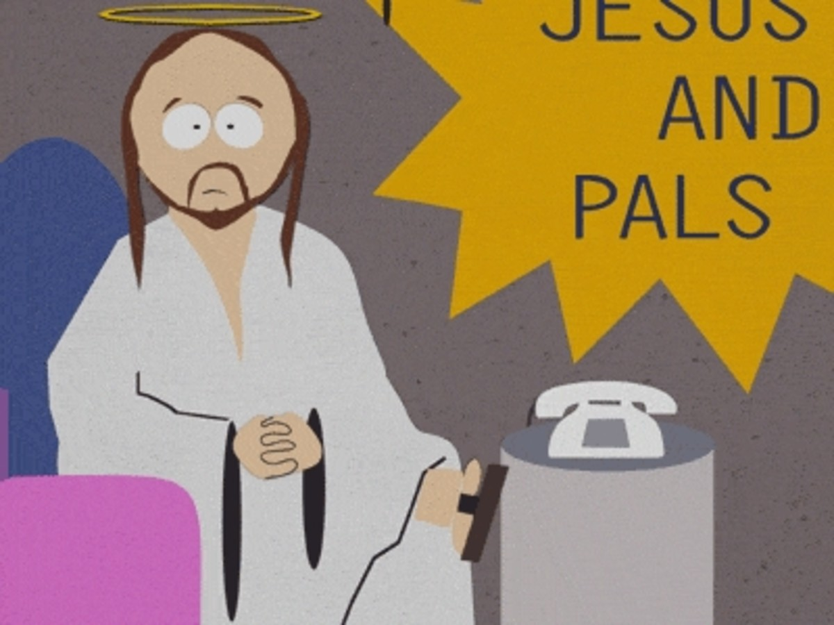 I won't post a pic of the Prophet Mohammed, but maybe I can get away with this one of Talk Show Host Jesus, just to show folks that it is not impossible to laugh at yourself or your ideals.