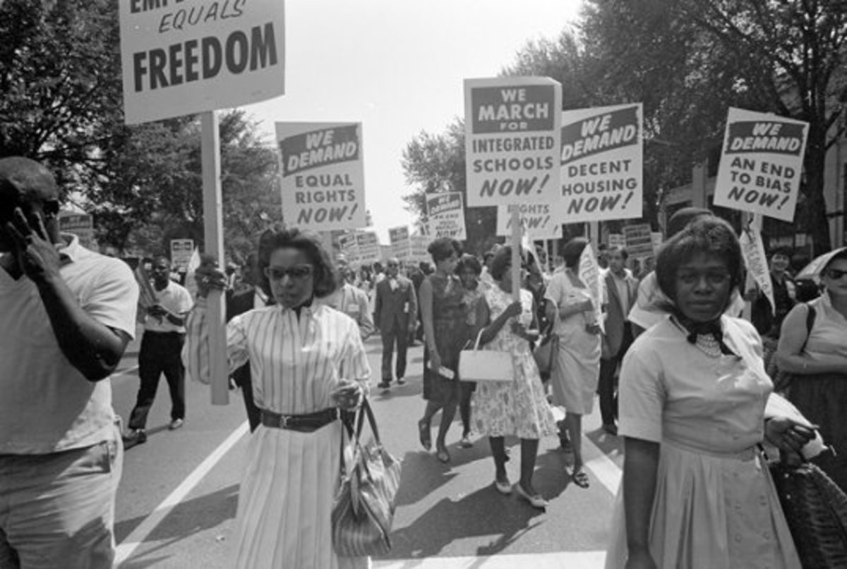 In the glory days of MLK these people were carrying signs and they weren't hitting anybody with them.  All the same they ultimately won the day, demonstrating that peace does work, if given a chance.