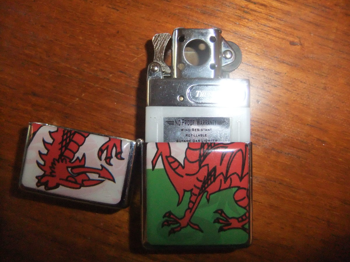 The Thunderbird fits snugly into any case which is made for a Zippo (here it's shown half-out of the case to illustrate)