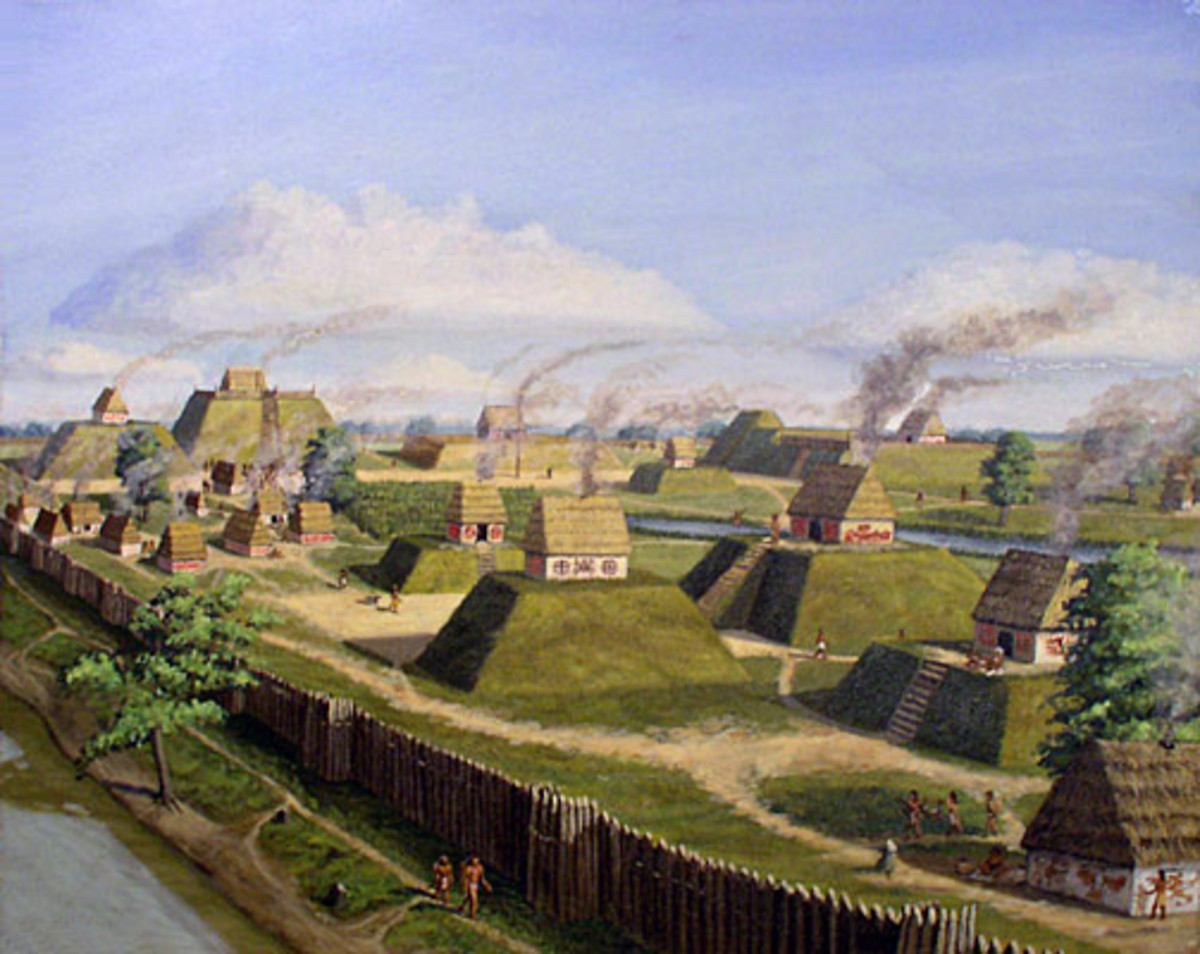 Artist's depiction of Cahokia