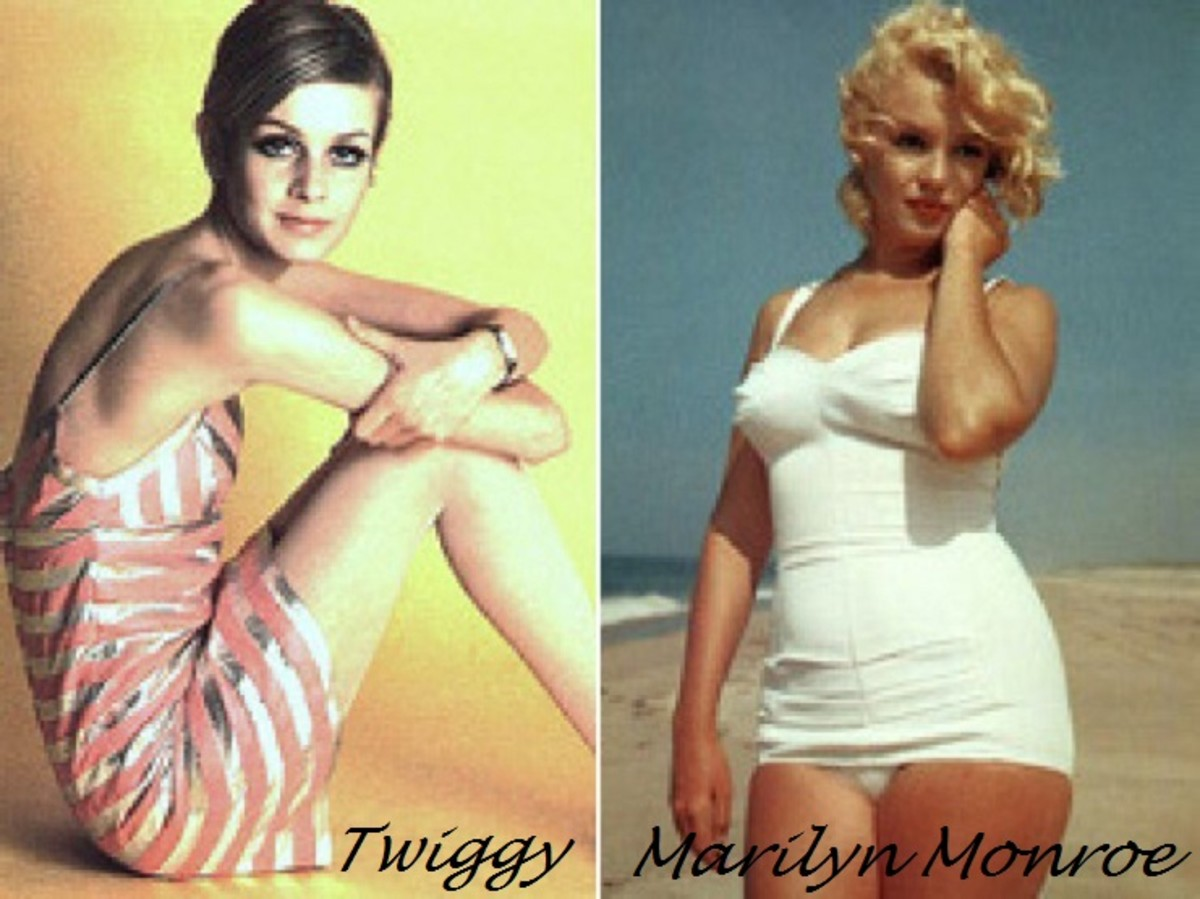 Twiggy and Marilyn Monroe compared