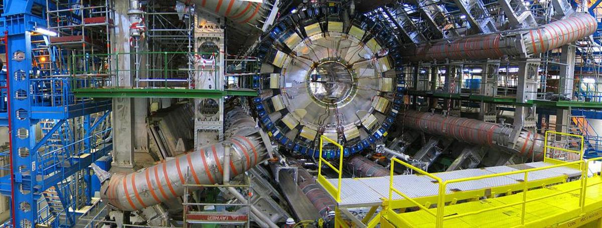 The ATLAS experiment at the Large Hadron Collider. We can measure the God particle, but we can't measure God.