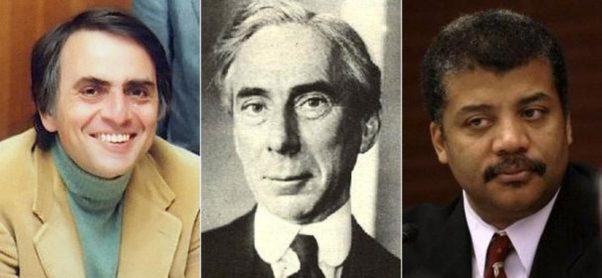 Carl Sagan, Bertrand Russell, and Neil deGrasse Tyson. Some of the greatest thinkers and scientists of the past century were (or are) agnostic.